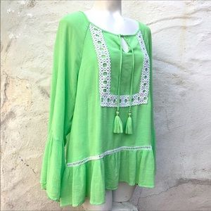 Lilly Pulitzer Peasant Boho Top L